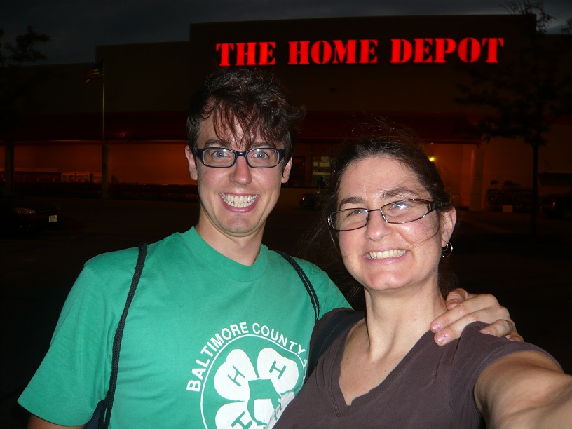Siri and Mike at Home Depot for the 1st Time