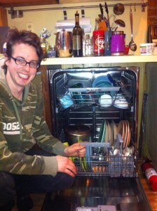 First load in our new dishwasher