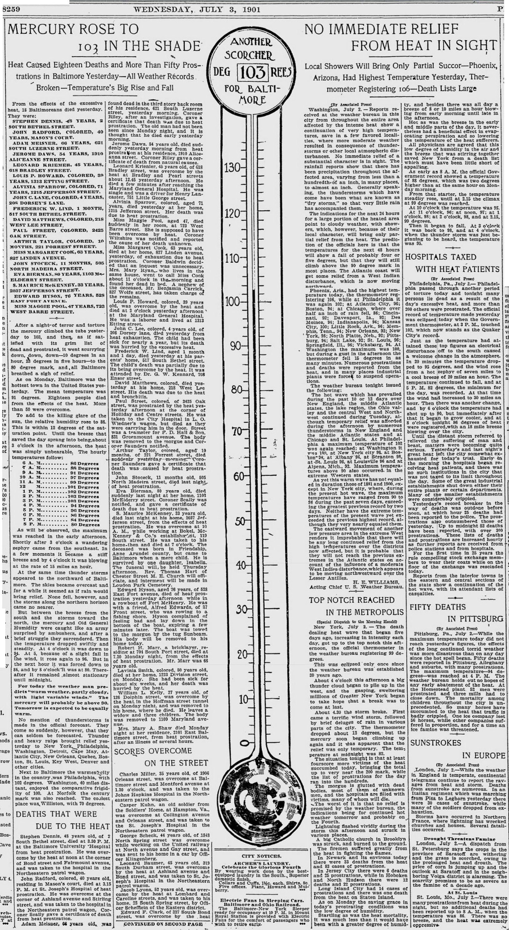 Baltimore Morning Herald - 3 July 1901